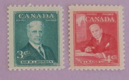 CANADA YT 244/245 NEUFS**/*  PREMIERS MINISTRES ANNÉE 1951 - Nuevos