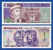 De La Rue Giori S.A. - Johannes Gutenberg One Pass Web Test - Intaglio Specimen Test Note Unc - Specimen