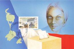 CARTE MAXIMUM #23627 SAINT PIERRE ET MIQUELON 1994 DROIT DE VOTE DES FEMMES - Maximum Cards
