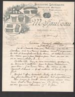 1907 LETTRE ILLUSTREE  VANNERIES  CABANNES PAULEAU / MARINETTES MANNES  C2117 - 1900 – 1949