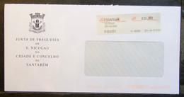 Portugal - Advertising Meter Franking Oficial ATM Label Cover 2011 Santarém São Nicolau Parish Council - Covers & Documents
