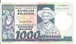 MADAGASCAR 1000 FRANCS ND XF P 65 - Madagascar