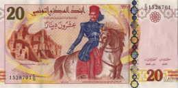 Tunisie 20 Dinars (P93) 2011 (Préf: E/16) -UNC- - Tunisia
