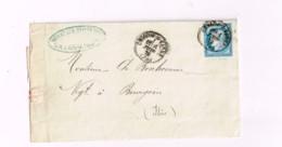 """Lettre De Châlon-sur-Saône à Bourgoin.""""Paris à Marseille"""" - 1871-1875 Ceres"""