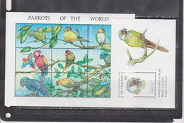 St Vincent And Grenadines 1995 Birds Parrots Klb+s/s MNH - Sin Clasificación