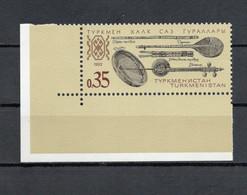 Turkmenistan - 1992 - Musica - Strumenti Tradizionali - Con Bordo Di Foglio Angolare - Nuovo **- (FDC29249) - Turkmenistan