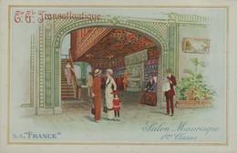 """Cie Gle TRANSATLANTIQUE - S.S. """"FRANCE """" - Salon Mauresque 1ères Classes - Dampfer"""