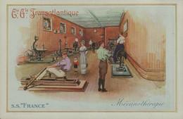 """Cie Gle TRANSATLANTIQUE - S.S. """"FRANCE """" - Mécanothérapie - Dampfer"""