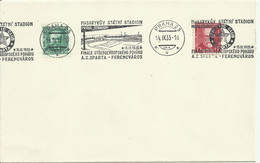 Clear Envelope With Commemorative Cancellation Football Final AC. Sparta-Ferencvaros 1935. Mi 329,297 A - Storia Postale