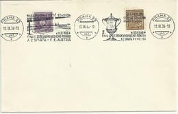 Clear Envelope With Commemorative Cancellation Football Final AC. Sparta-FK.Austria 1936. Mi 278, 349 - Storia Postale