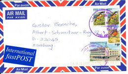 Fiji Air Mail Cover Sent To Germany 2000 BIRD Stamps - Fiji (1970-...)