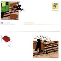 """★ """" TINTIN / DUPONT ET DUPOND """" Sur PAP De 2000 (avec Sa Carte)  N° YT 3304 En Parfait état. - Comics"""