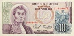 Colombia 10 Pesos Oro, P-407g (7.8.1980) - UNC - Colombia