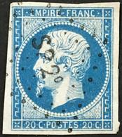 YT 14A Ambulants Losange SP2 Sedan Ou Strasbourg Paris (°) Obl 1853-60 Napoléon III Type I 20c Bleu France – Ciel - 1853-1860 Napoléon III