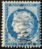 YT 60B LGC 3096 Redon Ille-et-Vilaine (34) TTB (°) Obl 1871-75 25c Bleu Type II Cérès (50 + 3 Euros) France – Fggy - 1871-1875 Ceres