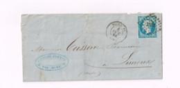 Lettre De Toulouse à Limoux. - 1853-1860 Napoléon III