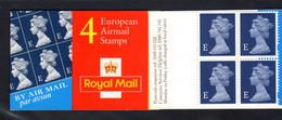 GRANDE-BRETAGNE 1999 - Carnet Yvert C2074 - SG HF1 - NEUF** MNH - European Air Mail Stamps - Carnets