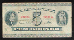 ДАНИЯ  5  КРОН     1936 - Denmark