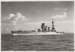 11470.  Foto Vintage Nave Da Guerra Da Identificare - Fotografia Geodesia Taranto - 17x12 - Boats