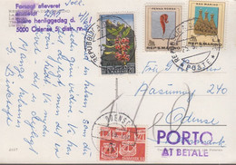 1969. DANMARK. Postage Due. Porto. 60 øre NORDEN On Postcard From SAN MARINO Cancelle... (Michel 475) - JF417085 - Postage Due