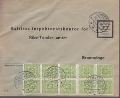 1961. DANMARK. Postage Due. Porto. 10 Ex 5 øre PORTO On Cover From FRIFELT 10.2.61 An... (Michel Porto 27) - JF417086 - Postage Due