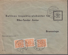 1961. DANMARK. Postage Due. Porto. 3 Ex 10 øre PORTO On Cover From GØRDING 22.2.61 An... (Michel Porto 28) - JF417088 - Postage Due