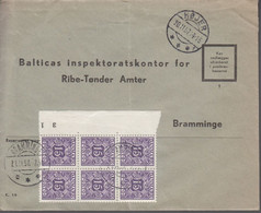 1957. DANMARK. Postage Due. Porto. 6 Ex 15 øre PORTO On Cover From HØJER 20.11.57 And... (Michel Porto 35) - JF417089 - Postage Due
