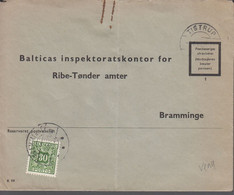 1960. DANMARK. Postage Due. Porto. 30 øre PORTO On Cover From TISTRUP 3.8.60 And Canc... (Michel Porto 36) - JF417092 - Postage Due