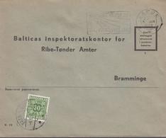 1960. DANMARK. Postage Due. Porto. 30 øre PORTO On Cover From VARDE 3 JUN 1960 And Ca... (Michel Porto 36) - JF417093 - Postage Due