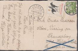1941. DANMARK. Star Cancel SANDAGER On Card With JULEN 1941 Cancelled ASSENS 10.12.41... (Michel 261) - JF417113 - Otros