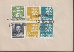 1984. DANMARK. Postage Due. Porto. 10 ØRE + 3,30 + 2 EX 10 + 2 EX 5,50 Kr Normal Stam... (Michel 794+) - JF417157 - Postage Due