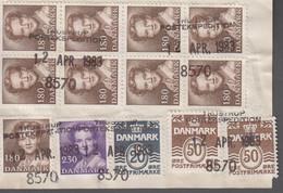 1983. DANMARK. Postage Due. Porto. 20 + 2 EX 50 ØRE + 2,30 + 9 EX 1,80 Kr Normal Stam... (Michel 760+) - JF417158 - Postage Due