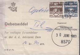 1983. DANMARK. Postage Due. Porto. 20 + 50 ØRE + 8 EX 2,00 Kr Normal Stamps On Debets... (Michel 761+) - JF417160 - Postage Due