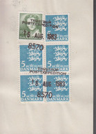 1983. DANMARK. Postage Due. Porto. 2,20 + 5 EX 5 Kr Normal Stamps On Debetseddel (27 ... (Michel 776+) - JF417162 - Postage Due