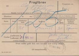 1965. Postfærge. 1,25 Kr. In Blue On Unfranked Fragtbrev To Fanø Cancelled FANØ - ESB... () - JF417173 - Postage Due