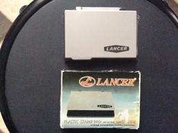 TAMPON ENCREUR Couleur Noire  LANCER Plastic Stamp Pad  BLACK Blister - Other