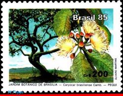 Ref. BR-1973 BRAZIL 1985 FLOWERS, PLANTS, BRASILIA BOTANICAL, GARDEN, TREE, MNH 1V Sc# 1973 - Nuevos