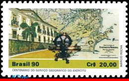 Ref. BR-2250 BRAZIL 1990 MAPS, ARMY GEOGRAPHICAL SERVICE, , ARCHITECTURE, MI# 2363, MNH 1V Sc# 2250 - Nuevos