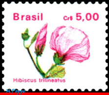 Ref. BR-2261 BRAZIL 1990 FLOWERS, PLANTS, FLORA, CR$ 5.00,, MNH 1V Sc# 2261 - Nuevos