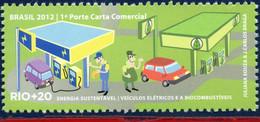 Ref. BR-3218K BRAZIL 2012 ENVIRONMENT, RIO+20, UNITED NATIONS,, SUSTAINABLE ENERGY, CARS, MNH 1V Sc# 3218K - Voitures