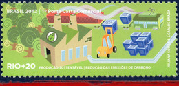 Ref. BR-3218M BRAZIL 2012 ENVIRONMENT, RIO+20, UNITED NATIONS,, REDUCING CARBON EMISSIONS, MNH 1V Sc# 3218M - Autres (Terre)