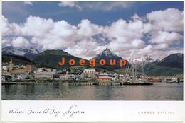 Postcard Postal Correo Argentino Dock Ship Ushuaia Tierra Del Fuego Patagonia Argentina - Argentina