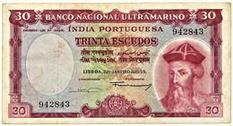 Portuguese INDIA - 60 Escudos - 02.01.1959 - Pick 42 - 6 Digit - Afonso De Albuquerque - Other - Asia
