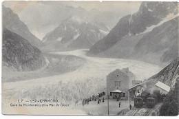 74 - CHAMONIX -  L.F. 1257 -  Gare Du Montenvers Et La Mer De Glace - CPA Vierge - Chamonix-Mont-Blanc