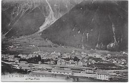 74 - CHAMONIX -  L.F. 1259 -  Le Brévent, Plan-Praz Et La Gare - CPA écrite En 1912 - Chamonix-Mont-Blanc