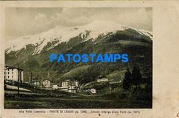 156871 ITALY PONTE DI LEGNO ALTA VALLE CAMONICA GREAT HOTEL ALBERGO CIMA SORTI SPOTTED POSTAL POSTCARD - Unclassified