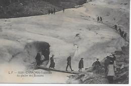 74 CHAMONIX - L.F. 2020 - Sortie De La Grotte Et Traversée Du Glacier Des Bossons - CPA écrite En 1910 - Chamonix-Mont-Blanc