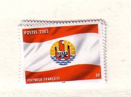 POLYNESIE  2003 DRAPEAUX YVERT N°697  NEUF   MNH** - Nuovi