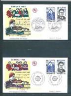 2 Envelloppes  Premier  Jour  Europas  N°2366/67 (paris Et Strasbourg)  27/4/1985 - Non Classificati