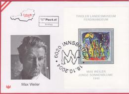 FDC 2004 - Mi 2501 Block 26 (1) , Berühmte Gemälde - Max Weiler , SST 6020 Innsbruck - 2001-10 Covers